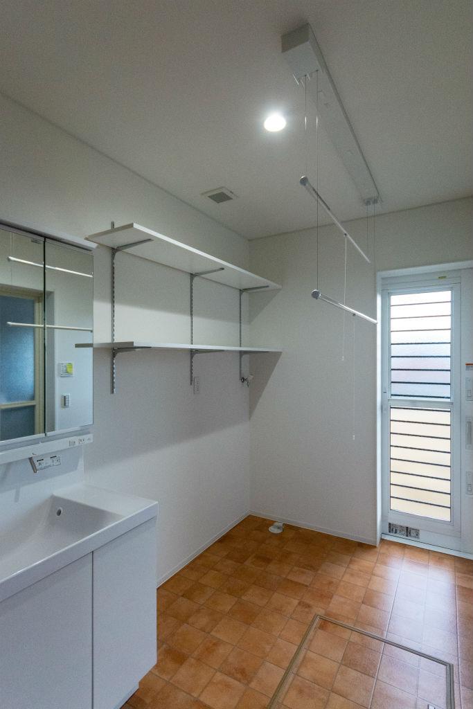 開放感のある家・洗面脱衣室