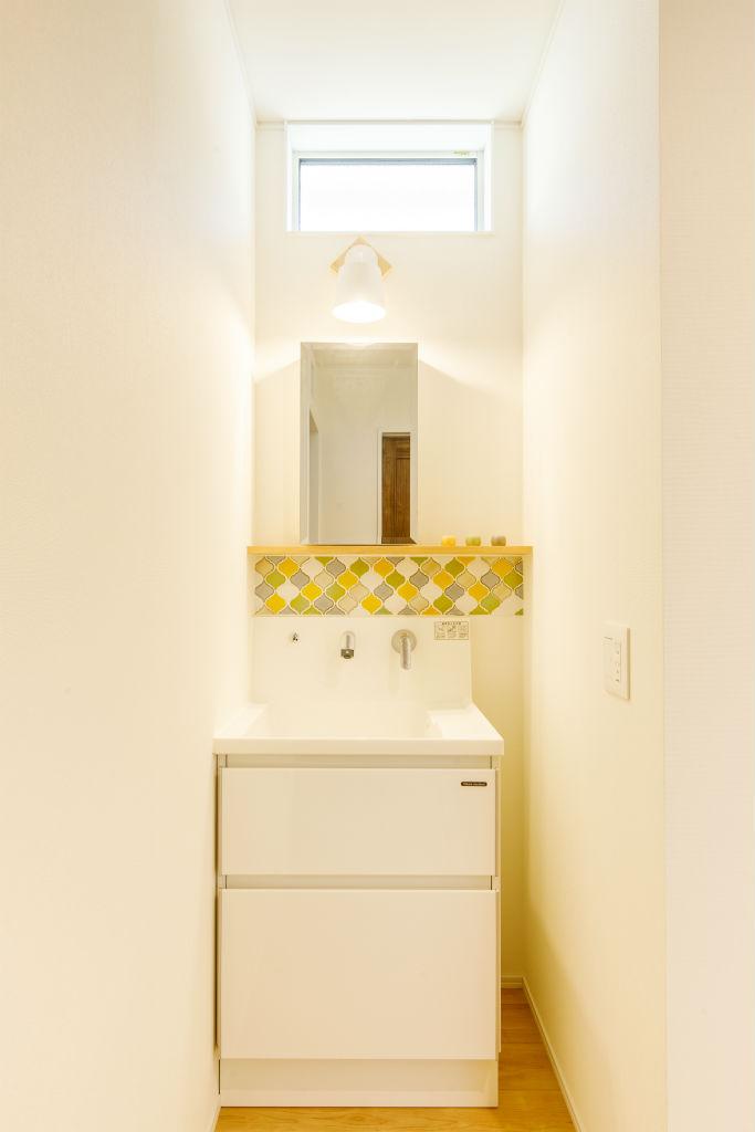 ヒュッゲを愉しむ家・洗面台