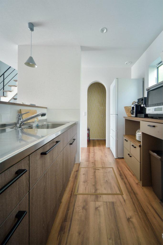 北欧テイストの家・キッチン