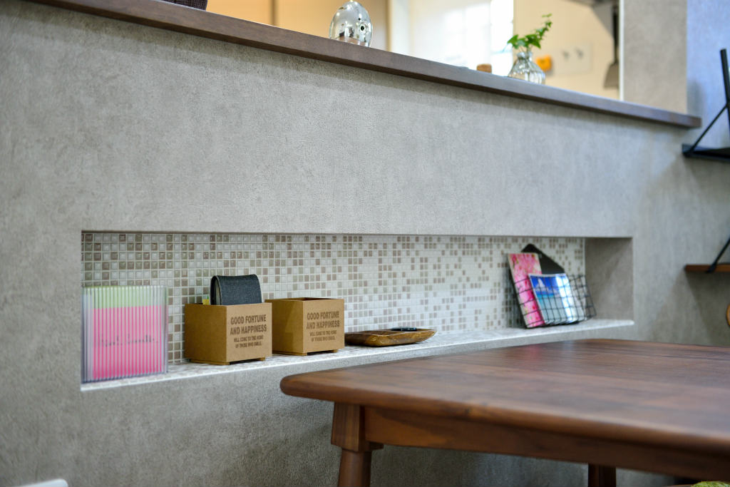 キッチン腰壁ニッチ