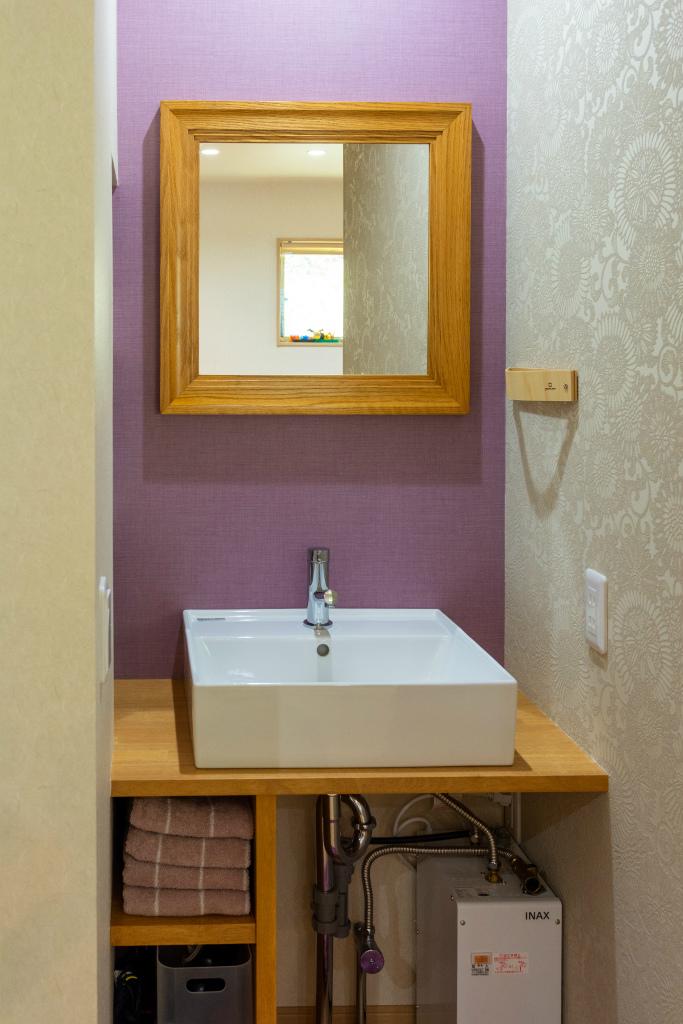 和の家 -四季彩-・造作洗面台